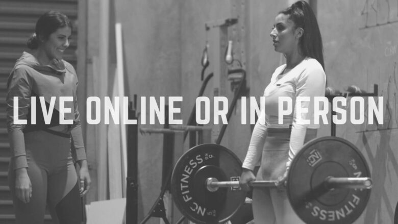 LIVE 1:1 individual personal sessions personal training in-person Melbourne